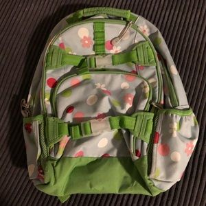 Blue and Green Flower Backpack